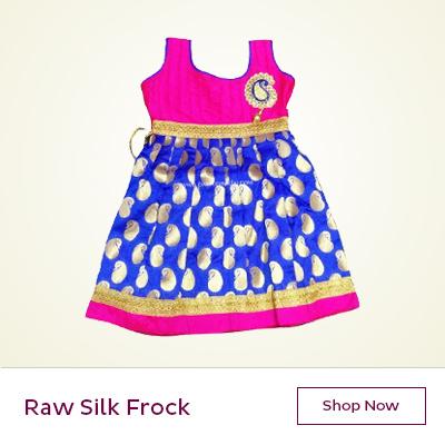 Raw silk frocks