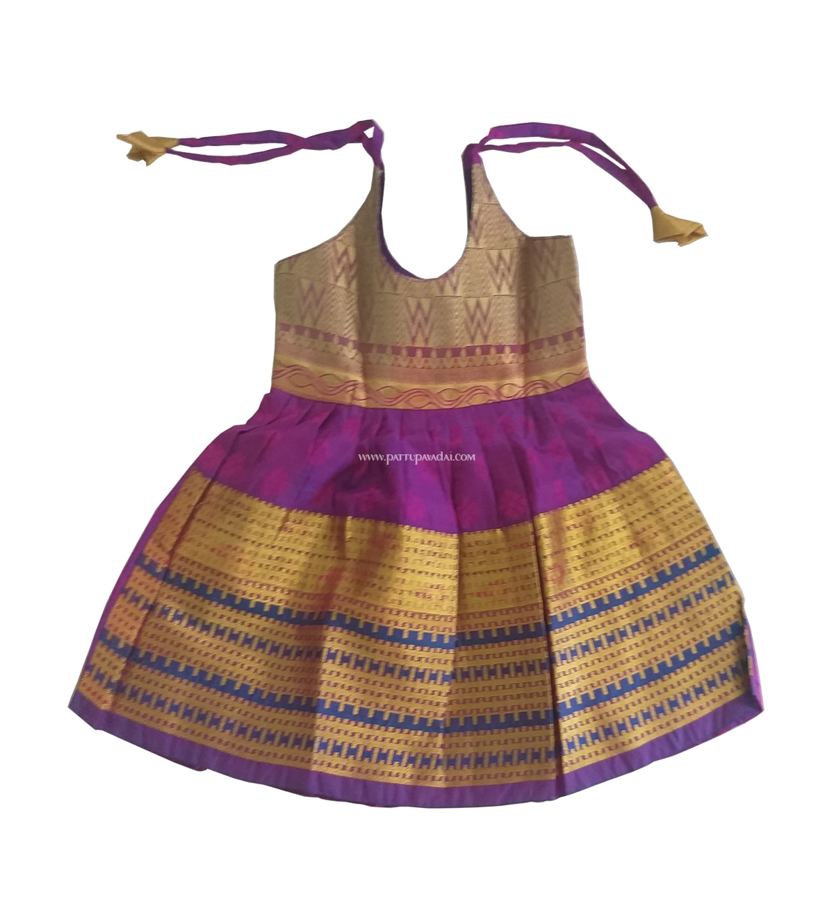 a7f4abb66ea0f Buy Pure Silk Frock Purple Online at Best Prices