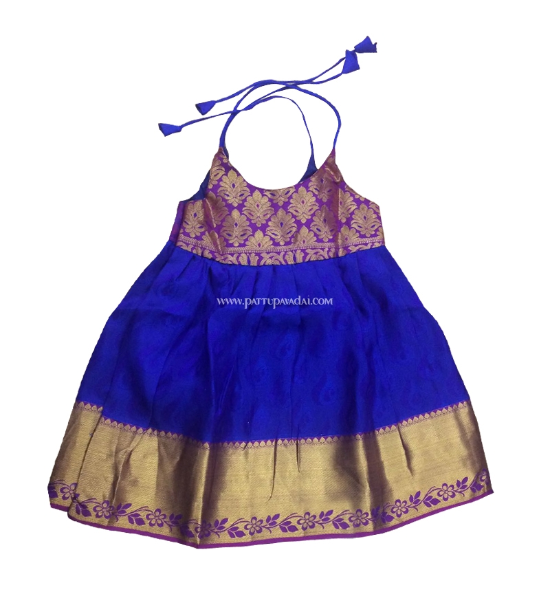729d74c16644 Buy Blue and Purple Color Pattupavadai for new born babies online.
