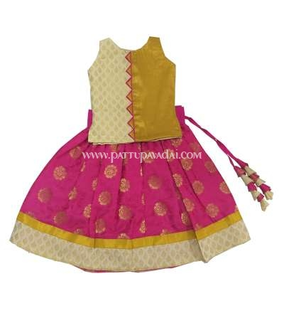 Banarasi Langa Pink and Golden