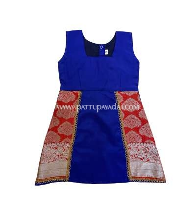 Blue and Orange Silk Frock