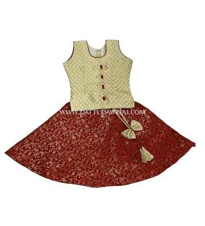 Brocade Fancy Langa Sandal and Red