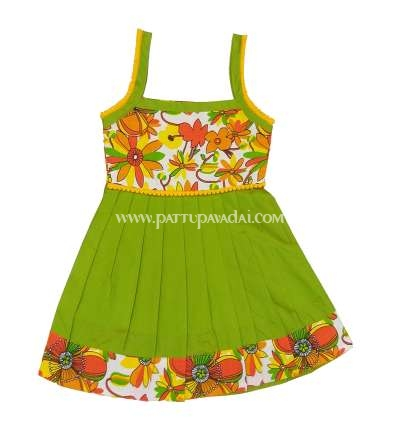 Cotton Frock Sleeveless with Pom Pom