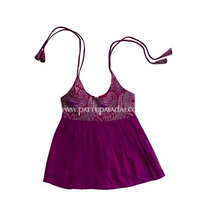 Cotton Knot Frock Magenta