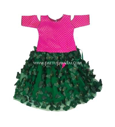 Fancy Butterfly Langa Pink and Dark Green