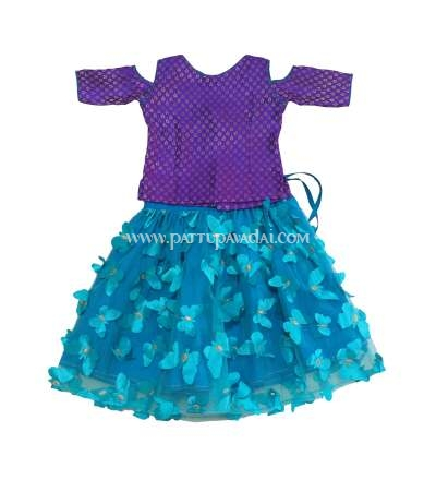 Fancy Butterfly Langa Violet and Sky Blue
