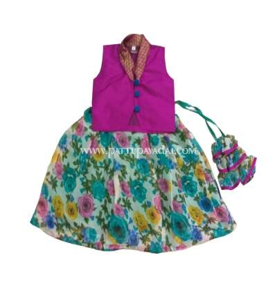 Floral Langa with Trendy Top