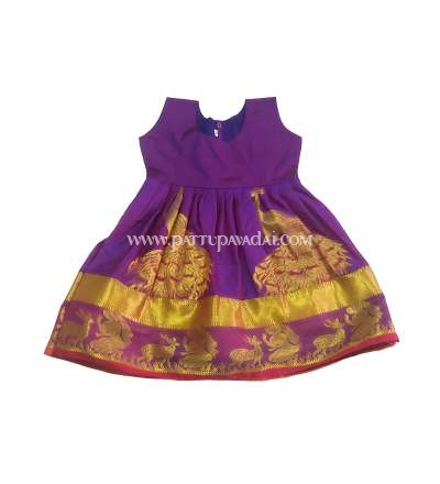 Golden and Violet Silk Frock