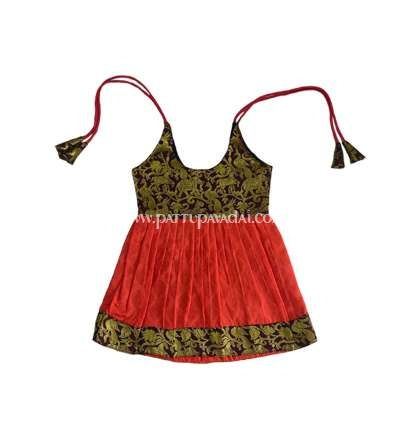 Buy Just Born Pure Silk Frock Brown
