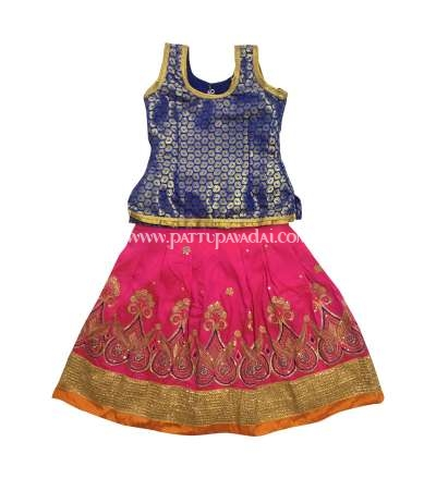 Karishma Fancy Langa Blue and Pink