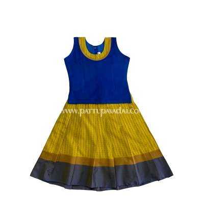 Kids Blue and Yellow Skirt and Top