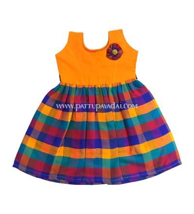 Kids Checked Multi Frock