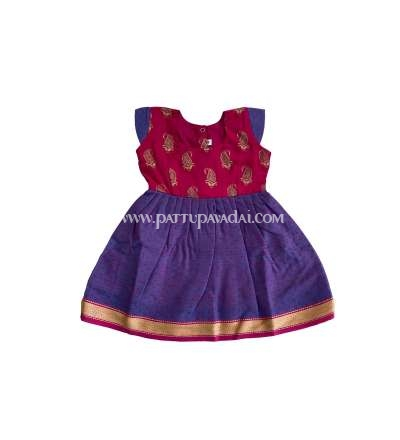 Kids Cotton Frock Violet
