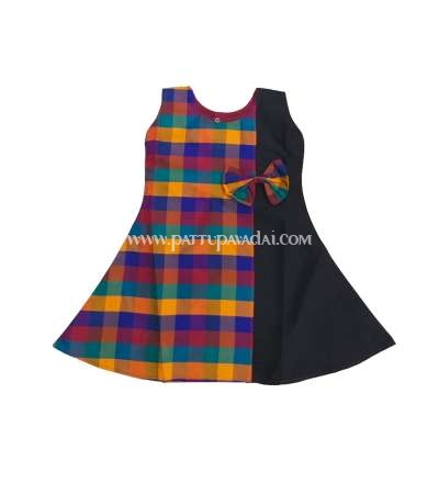 Kids Fancy Checked Frock