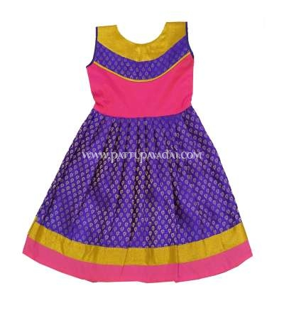 Kids Long Gown  Violet