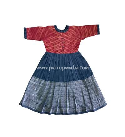 Kids Long Gown Pink and Grey