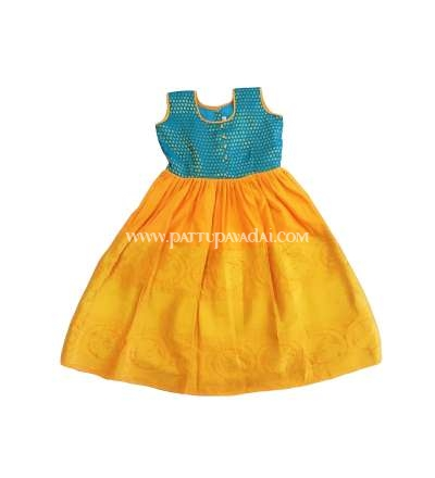 Kids Long Gown Yellow