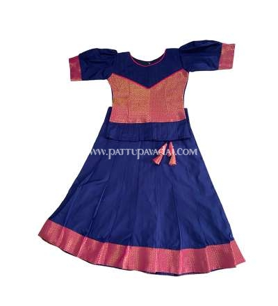 Kids Magenta and Navy Blue Skirt and Top