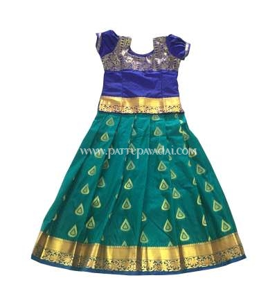 Buy Kids Pattu Pavadai Ramagreen and Blue only at pattupavadai.com