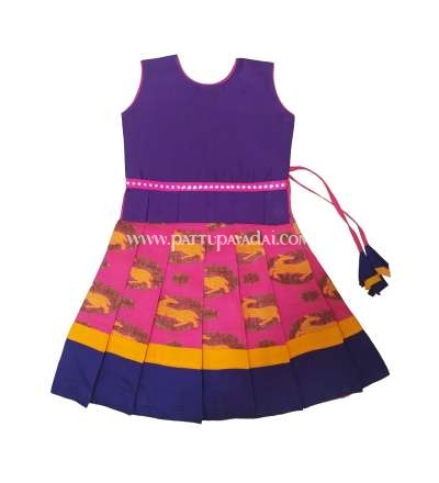Kids Pink and Violet Fancy Langa