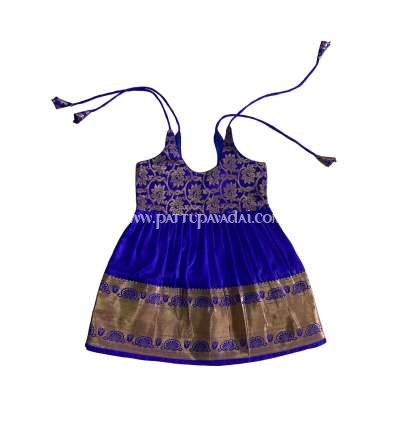 Kids Pure Silk Frock Blue