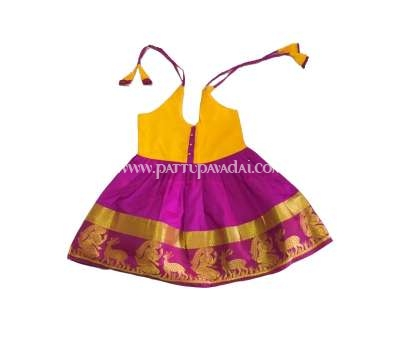 Kids Yellow and Magenta Frock