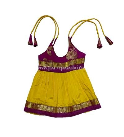 Kids Yellow and Pink Frock