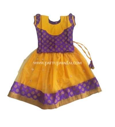 Netted Yellow and Purple Fancy Langa