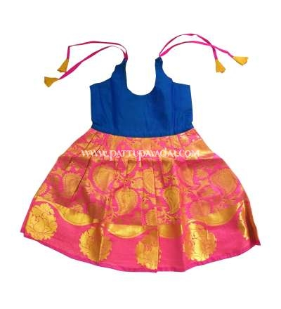 One Year Pure Silk Frock Pink