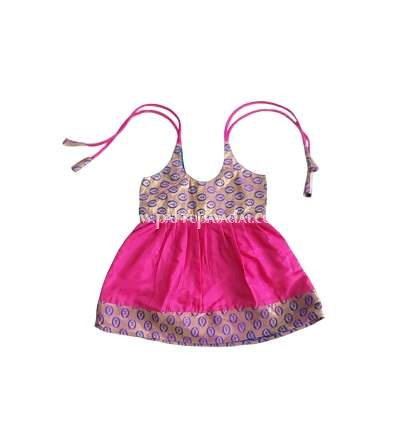 One Year Silk Frock Pink and Blue