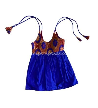 Orange and Blue Knot Frock