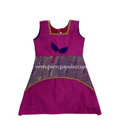 Pattu Frock Pink and Violet