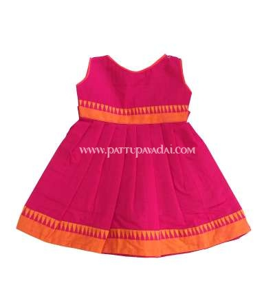 Pink Pure Cotton Frock