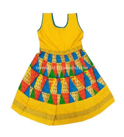 Pure Cotton Frock Yellow