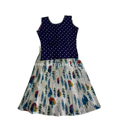 Pure Cotton Skirt and Top Navy Blue
