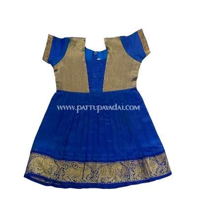 Pure Silk Frock Blue