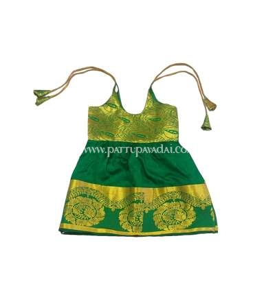 Pure Silk Frock Green and Golden