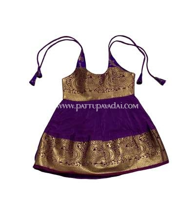 Pure Silk Frock Pink and Violet