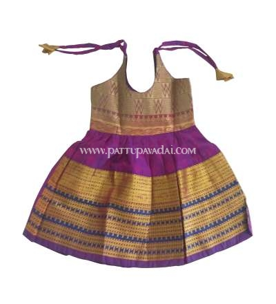 Pure Silk Frock Purple
