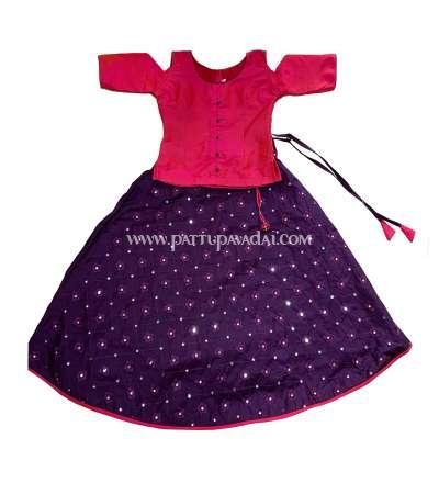 Purple and Pink Fancy Langa