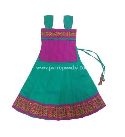 Buy Online  Sameera Fancy Langa Green and Magenta