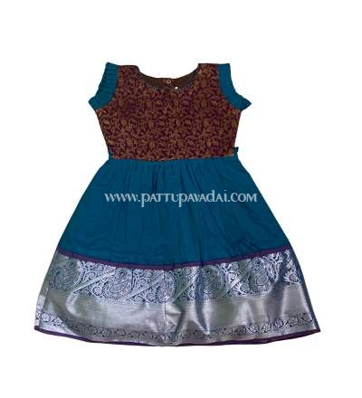 Silk Frock Blue and Magenta