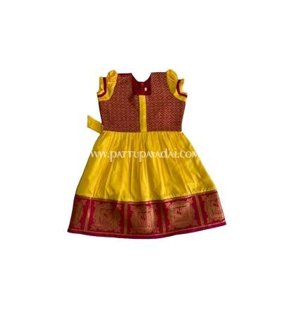 Silk Frock Yellow and Red