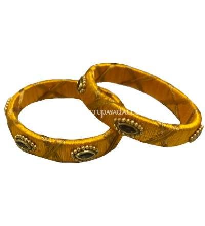 Silk Thread Bangle Yellow