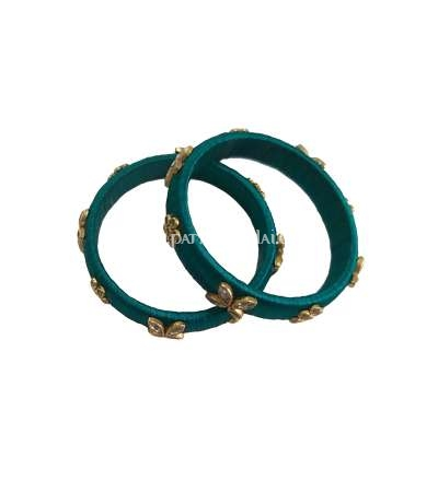 Silk Thread Designer Bangle Green