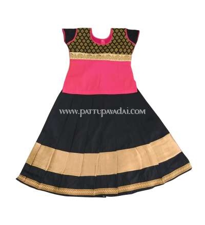 Traditional Pavadai Set Pink and Black