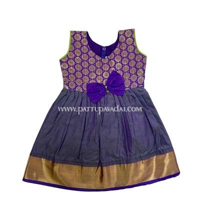 Violet and Golden Silk Frock