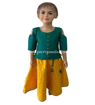 Yellow and Ramagreen Fancy Langa